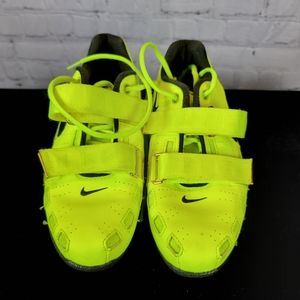NIKE ROMALEOS 2  weightlifting shoes  neon yellow